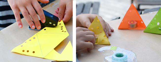 3D geometric pendant lamp - Paper lantern DIY - EzyCraft | Diy ... | 253x652