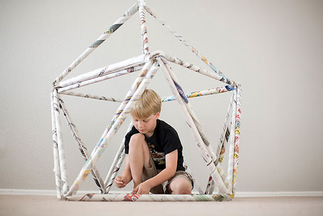 recycled newspaper projects