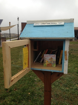 Sweet Little Library outside at BCSIS/High Peaks Elementary Schools
