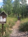 Start of Forsythe Canyon trail